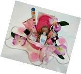 Mothers Day Gift Basket Pink Facial Nail Polish Bath Body