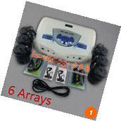 Hot Dual MP3 Ionic Detox Cell Foot Bath Spa Cleanse Machine 6 Arrays For Salon
