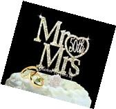 Mr & Mrs 50th Gold Anniversary Wedding Cake Topper In