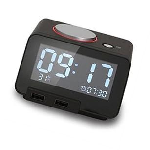 Homtime Multi-function Alarm Clock, Indoor Thermometer,