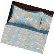 Mainstays Multi Leaf Bed in a Bag Complete Bedding Set Queen
