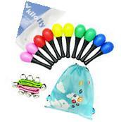 kilofly Musical Toys Rhythm Plastic Egg Maracas Wrist Bells