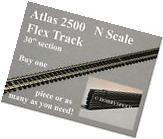 "ATLAS N SCALE 2500 CODE 80 SUPER FLEX 30"" STRAIGHT black"