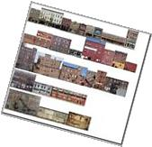 #500 N scale 29 COMMERCIAL BUILDING SET WITHOUT FOAM CORE *