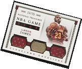 2015-16 National Treasures Lebron James NBA Game Gear Triple