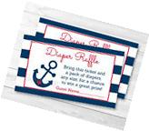 Nautical Anchor Blue & Red Printable Baby Shower Diaper