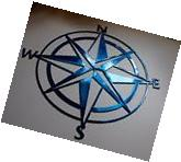 "Nautical COMPASS ROSE  mini""WALL ART DECOR copper/bronze"