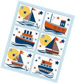 Nautical Sailboat Prints Wall Art Baby Boy Nursery Ship