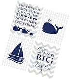 Navy Blue and Gray Nautical Nursery Print, Anchor Nursery