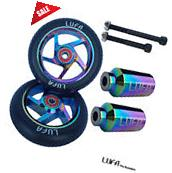110mm LUFA Neo-Chrome Oil Slick Pro Scooter KIT  Metal Core