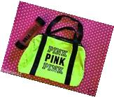 Victoria's Secret PINK Neon Green Gym Duffle Bag Tote +