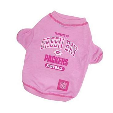 Pets First NFL Green Bay Packers Tee Shirt, Large, Pink