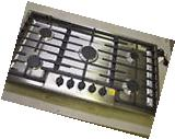 """Bosch NGM5655UC 36"""" Stainless Gas Cooktop w/5 Sealed Burners"""