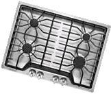 NIB Frigidaire FFGC3026SS 30 Inch 4 Sealed Burners Cast Iron