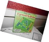 NIB MEGAFUN GAMES PYRAMID SOLITAIRE TRAVEL SIZE WOOD MARBLE