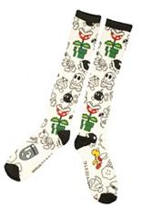 Nintendo Super Mario Bros Enemy Collage Socks