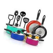 Non Stick Cookware Set Pans and Pots 15 Piece Ceramic