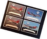 Northwest Airlines Aircraft Collectors Cards- 2xA320, B727