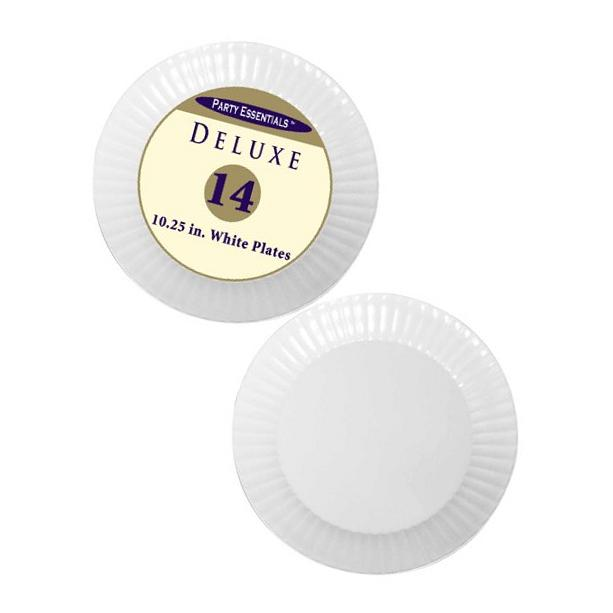 Party Essentials N1016804 Deluxe Hard Plastic Round Dinner