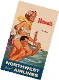 "Northwest Orient Airlines ""Hawaii"" Magnet"
