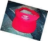 NEW NOS Vintage 2002 Tennis US OPEN Visor Hat Cap Red