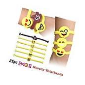 Emoji Novelty Toy Rubber Wristband Bracelets for Children -