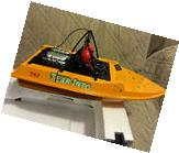 NQD WATER JET POWERED YELLOW RC RADIO CONTROL BOAT WITH 390