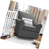 Nursery Rocking Chair Grey Home Furniture Baby Bedroom