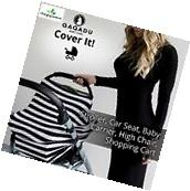 Nursing Breastfeeding Cover Scarf - Baby Car Seat Canopy,