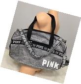 NWT Victoria's Secret PINK Logo Gym Duffle Bag Tote Marl