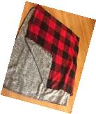 NWT Victoria's Secret Pink Plaid Throw Soft Blanket Red