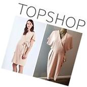 NWT $80 Topshop Maternity Size 10 Pink Wrap Dress Cute Party