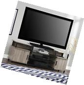"""70"""" Oak Wood TV Stand Entertainment Center Console Table DVD"""