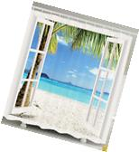 Ambesonne Ocean Theme Shower Curtain Fabric Beach Bathroom