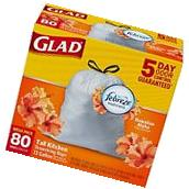 Glad OdorShield Tall Kitchen Drawstring Trash Bags, Hawaiian