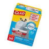 Glad OdorShield Trash Bags with Febreze 13 gallon, 140 count