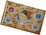 OPERATION IRAQI FREEDOM FLAG - ARMY, NAVY, AIR FORCE &