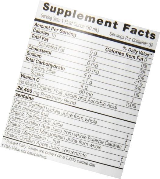 Organic Certified Juice Blend, Lychee, 33.8 Fluid Ounce