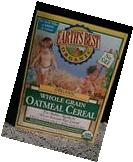 NEW Earth's Best Organic, Whole Grain Oatmeal Cereal, 8