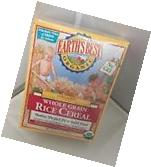 LOT 2 8 OZ BOXES EARTH'S BEST ORGANIC WHOLE GRAIN RICE