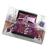 Mainstays Orkasi Bed in a Bag  Bedding Set Purple Twin 1