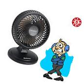 Oscillating Desk FAN Personal 8 Inch Table Cooling 2 Speed Electric Small Fans