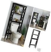 Over The Toilet Storage Shelf 2 Shelves Bathroom Wood Towel