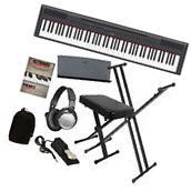 Yamaha P-115 Digital Piano - Black KEY ESSENTIALS BUNDLE