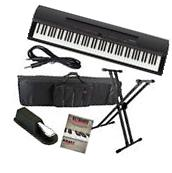 Yamaha P-255 Digital Piano - Black STAGE ESSENTIALS BUNDLE