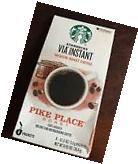 Lot of 100 Packets Starbucks Via Pikes Place Blend! Exp Sept