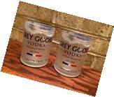 Pair of Grey Goose Vodka rocks glasses- From 1 Liter Bottles