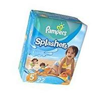 Pampers Splashers Swim Diapers Size 5 22 ea pack of 2