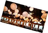 "15x 10"" Paper Chinese Lantern + 15 white LED Light Wedding"