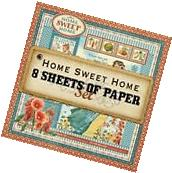"""GRAPHIC 45 """"HOME SWEET HOME"""" 12X12 PAPER COMPLETE SET"""